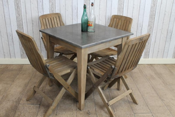 SQUARE STONE TOP CAFE RESTAURANT TABLES Vintage Industrial Retro – Cafe Style Tables and Chairs