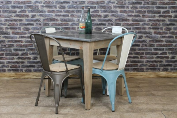 Square stone top cafe restaurant tables vintage - Table cuisine retro ...