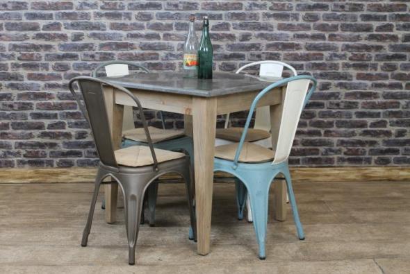 Square stone top cafe restaurant tables vintage - Table cuisine retro ...
