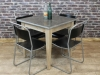 industrial style stone top table