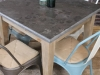 stone top square table