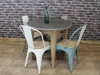 round stone top table