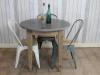 shabby chic round stone table