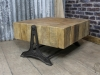 industrial style pine coffee table