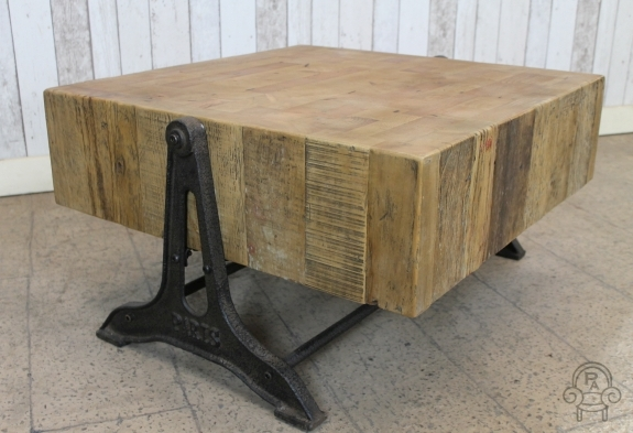 vintage industrial style pine table