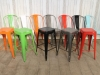 bright multi colour tolix style dining chairs stools
