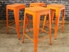 orange tolix style stool