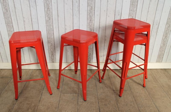 restaurant industrial vintage style tolix stool : red industrial stool - islam-shia.org
