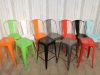 bright colour dining tolix style stool