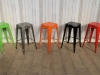 multi colour industrial style stool