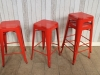 restaurant industrial vintage style tolix stool