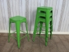 bright green dining cafe stool