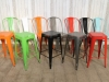 chairs stools stacking bright multi colour dining