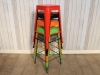 coloured stacking restaurant stools