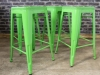 green stacking tolix stool