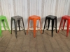 multi colour vintage style stool