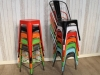 tolix chairs stools stacking