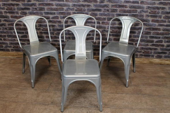 galvanised tolix style dining chair