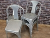 galvanised restaurant chair