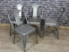 gunmetal industrial style dining chair