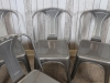 industrial style square seat dining chair