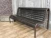 industrial vintage park bench
