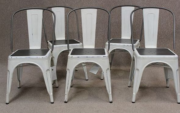 set white tolix chairs