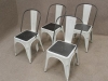 metal white gunmetal tolix chairs