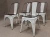 white tolix style chair