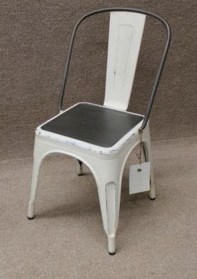 White Tolix Style Chair Industrial Vintage Styling For