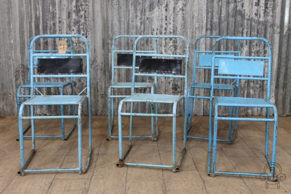 SC412 Blue stacking chairs2