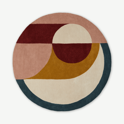 Bascome Round Handtufted Wool Rug