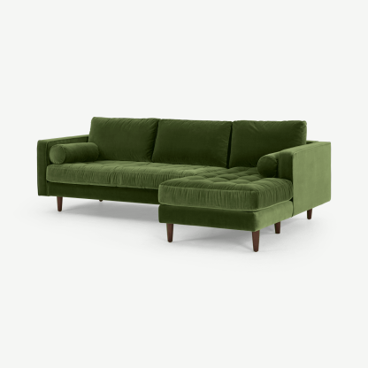 Scott 4 Seater Right Hand Facing Chaise End Corner Sofa
