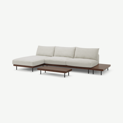 Zita Modular Chaise End Corner Sofa with 2 Side Tables
